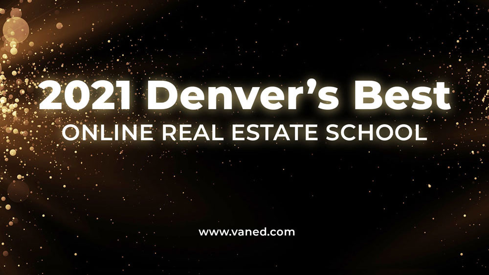 Vaned Online Real Estate School Receives 2021 Denver Award